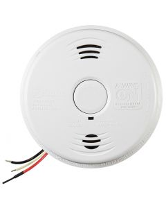 Worry-Free AC Wire-in Combination Smoke & Carbon Monoxide (CO) Alarm Sealed Lithium Battery Backup